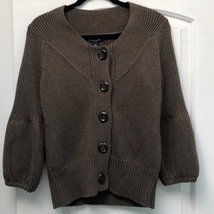 Banana Republic brown cardigan sz M NWT